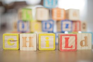 spelling blocks for a preschool class
