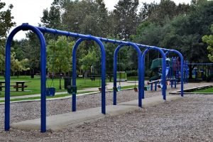 swings in a preschool playground